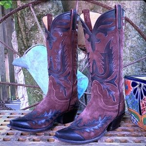 LUCCHESE Handmade Classic Tall Black Brown Boots
